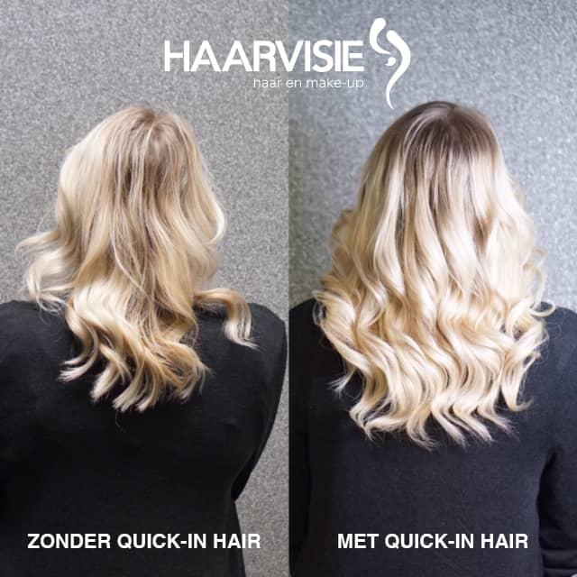 Quick in hair: hairextensions laten zetten in een minuut