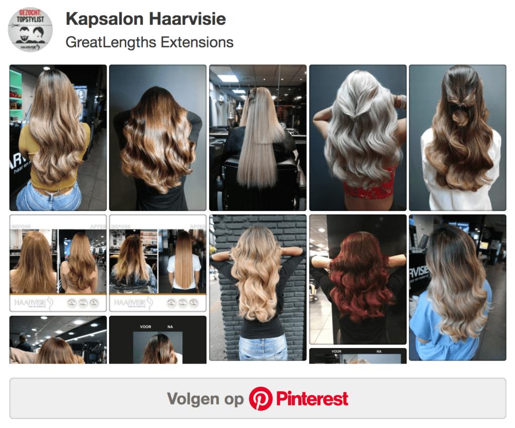 Hairextensions bord van Pinterest Haarvisie