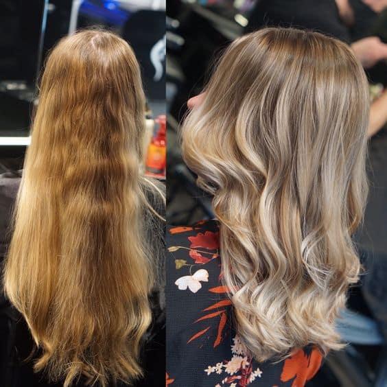 behandeling met olaplex blond haar